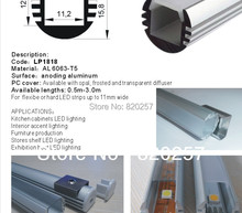 DHL/FEDEX /EMS Free shipping 10pcs/lot 1m LED profile housing 18*18*1000MM with PC cover and end cap