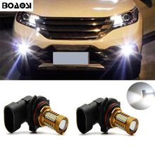 BOAOSI 2x H11 H8 LED Samsung 4014 SMD Projector Fog Light DRL 12W For Honda civic fit accord Crider crv(China)