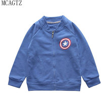 MCAGTZ 2017 Spring Autumn hot sale New boy 1-6T child jacket 100% cotton cartoon jacket children's baseball sports jacket #020