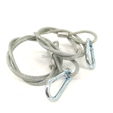 2 pcs/lot Stainless Steel Rope Loading Weight 40kg ,Wire Safety Cables With Looped Ends For Securing Stage Lighting