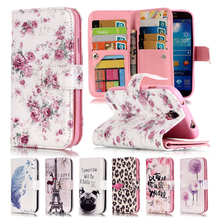 3D Relief Leopard Phone Case For Samsung Galaxy S4 Case Leather Wallet + Silicone Flip Case Samsung Galaxy S4 Cover Coque i9505(China)
