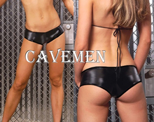 Buy Leather underwear Small*1413*Ladies G-string T-back Teddy Bikini Boxer Triangle Pajamas Skirt Suit Middle trousers Free Shipping