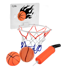Dewel Funny Mini Toilet Bathroom Desk Home Basketball Fans Game Set Portable BasketBall Hoop Toy For NBA Fans Kids Baby Adults(China)