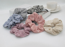 Free Shipping 2017 New soft striped  hair Scrunchies Hair Tie Hair Accessories Ponytail Holder Hair