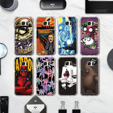 Classic Marble Telephone Booth TPU Case for Samsung galaxy S4 S5 Mini S6 S7 Edge S8 Plus Note 4 5 Grand Prime siliocne case(China)