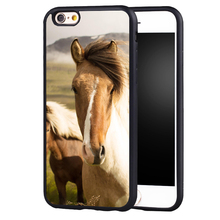 Pretty Brown Horse Animal case cover For Samsung Galaxy s4 s5 s6 S7 S6edge S8 S8plus note 2 3 4 5(China)