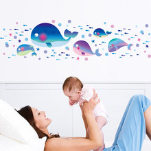 2017 new arrive creative wall fish bedroom sitting room background wall stickers high quality top selling home sweet wall decor