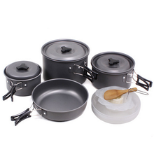 Stainless Steel Cooking Pots and Pans 15-pcs Set Non-stick Aluminium Kitchen Pots Set Camping Fire Maple Cookware for outdoor