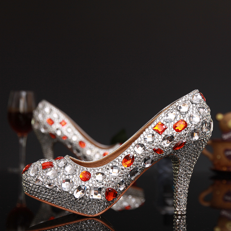 Sexy Ladies Stiletto Heels Shoes sapatos Femininos Crystal Woman High Heels Shoes Rhinestone Woman Evening Dancing Dress Shoes<br><br>Aliexpress