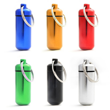 6pcs Waterproof Mini Pill Box Case Medicine Bottle Holder Container Pill Key Chain Organizer Case (Random Color ) YF2017(China)