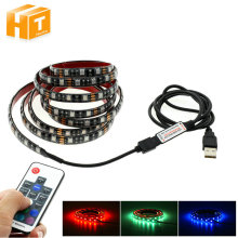 USB LED Strip 5050 RGB 60LEDs/m with 17Key RF Controller 50cm / 1m / 2m Set.(China)