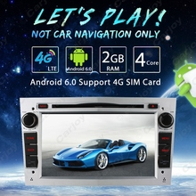 "7"" Silver Panel Android 6.0 (64bit) DDR3 2G/4G LTE Quad Core Car DVD GPS Radio Head Unit For Opel Zafira/Astra/Corsa/Vectra"