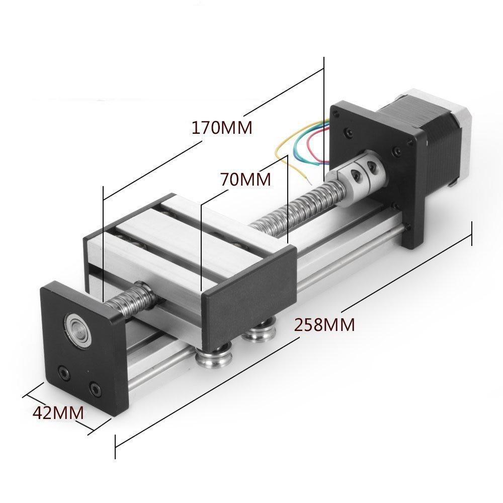 Ball Screw Linear Stage 42//57 Stepper Motor CNC Slide Stroke 200-500mm Actuator