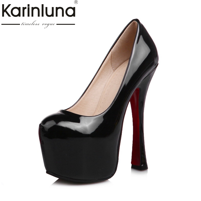 KARINLUNA brand shoes women top quality party women shoes sexy pumps platform thin high heels bride wedding shoes woman<br>