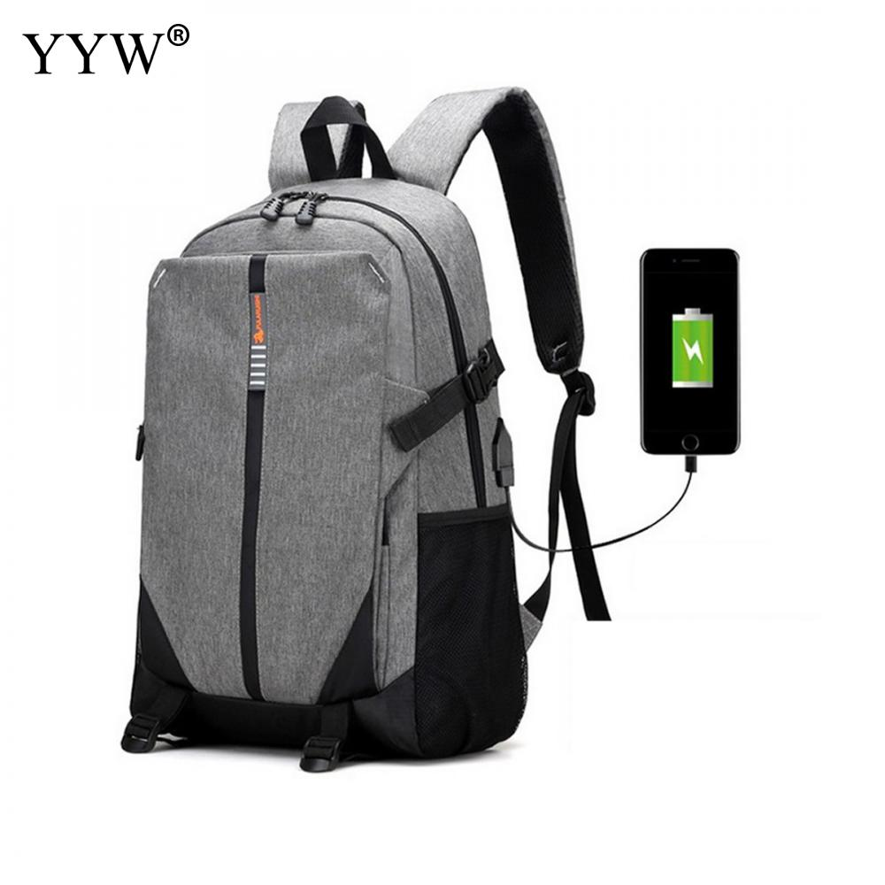 Oxford Backpacks Factory Price With Usb Interface Men Backack Women Solid Gray Canvas Backpack Blue Travel Backpack<br>