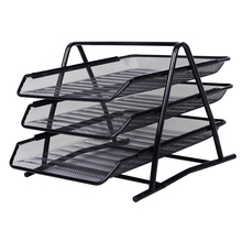 SOSW-Office Filing Trays Holder A4 Document Letter Paper Wire Mesh Storage Organiser(China)