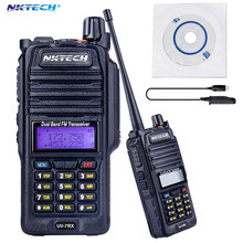 Professional Walkie Talkie Waterproof NKTECH IP57 UV-7RX With SOS FM Radio Station CB Ham Radio+Cable