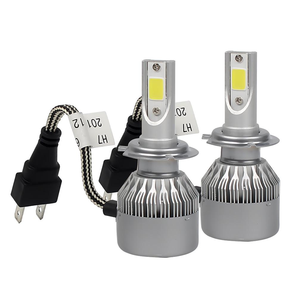 C9 H7 60W/set LED Car Headlight Head Lamp 6000K 1 Pair DRL Fog Light Daytime running light Car-styling Light Source<br><br>Aliexpress