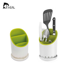 FHEAL Kitchen Chopsticks Cage Spoon Storage Box Storage Rack  Fast Draining Water Cutlery Sponge Holder Dish Multifunction Rack