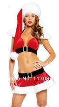 New Style 2017 New Year Cosplay Adultes Red Sexy Santa Costume Women Cosplay Santa Claus Costume For Women ML8036