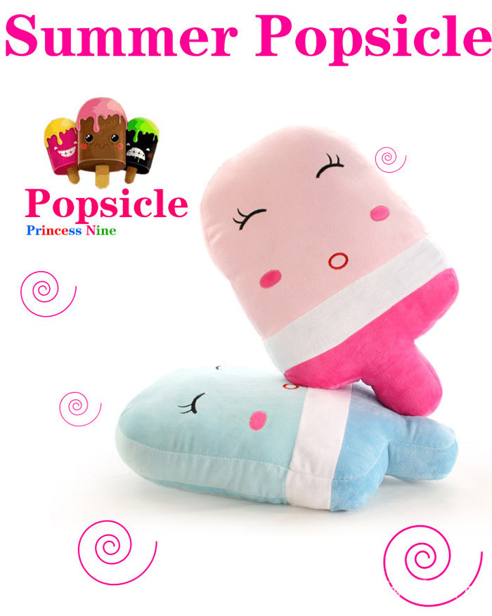 free shipping, lovely pink or blue summer popsicle plush toy , 50 x30cm cushion throw pillow creative birthday gift w4754<br><br>Aliexpress