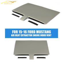 Front Bumper Air Heat Extractor Engine Hood Vent for Ford Mustang 2015-2016 Car Styling(China)