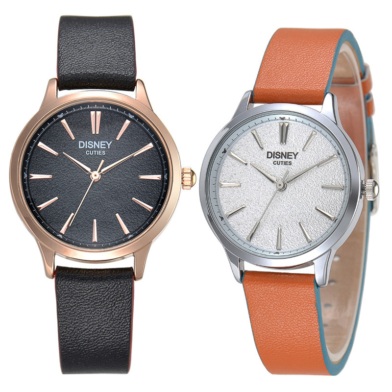 Disney brand couple wristwatches Men women quartz watches fashion boys girls Leather clocks relogio casual female male watch<br><br>Aliexpress
