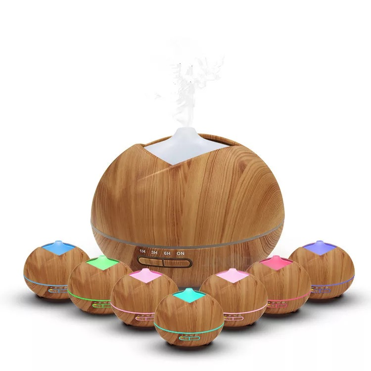400ml Air Humidifier Essential Oil Diffuser Aroma Lamp Aromatherapy Ultrasonic Aroma Diffuser Mist Maker for Home-Wood<br>