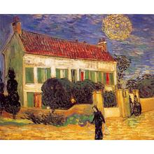 Landscapes art White House at Night by Vincent Van Gogh oil paintings canvas High quality hand-painted(China)