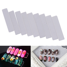 10pcs Removable Acrylic Nail Polish Holder Stand Case Rack Clear Lipstick Nails Display Organizer Storage box Nail Showing Shelf(China)