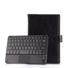 Universal 7.0 7.9 8.0 8.4 inch ios Android Windows Tablet PC Bluetooth Touchpad Keyboard With Leather Case Stand Cover + Stylus