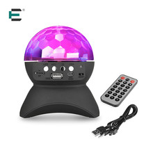 ET Party Disco DJ Bluetooth Speaker With Built-In Light Show Stage Studio Effects Lighting RGB Color Changing LED Crystal Ball