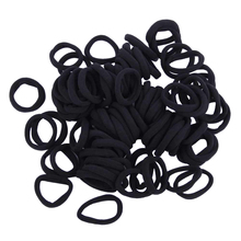 Buy 100pcs/lot Black Elastic Hair Ties Kids Girls Hair Band Rope Ponytail Holders Scrunchie Headband Children Hair Accessories for $6.76 in AliExpress store