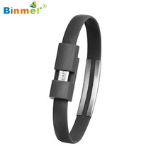 Hot-sale BINMER Wristband Micro USB Cable Charger Charging Data Sync For Android Cell Phone Gifts Wholesale