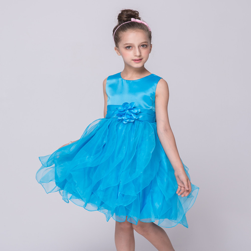 Big Sales! Hot Sale Candy Color Satin Toddler Girls Ball Gown Princess Summer Sleeveless Lovely Show Party Stage Formal Dress<br><br>Aliexpress