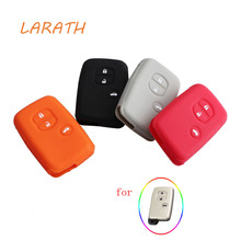 LARATH 4 Colour Silicone Car Remote Fob Key Case Cover For Toyota Land Cruiser Prado(2010)(China)