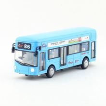 Free Shipping/Diecast Toy Model/Pull Back/Lundon City Sightseeing Bus/Sound & Light Car/Educational Collection/Gift/Kid(China)