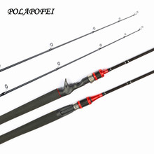 2017 NEW 1.8m 2.1m Carbon Fishing Rod Spinning Rod Casting Rods Travel Rod Fishing Tackle Baitcasting Pole Olta Pesca Pehce E262(China)