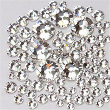 SS3 4 5 6 8 10 SS12 Crystal  White Clear Non Hotfix Rhinestone Nail Rhinestones for Nails Nail Art Decoration Nail Salon