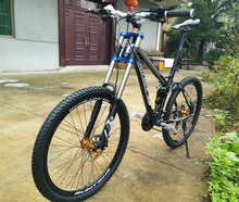 tires bicycle tire road Hydraulic brakes full suspension mountain bike 26er mountain bicycle 24/27 speed(China)