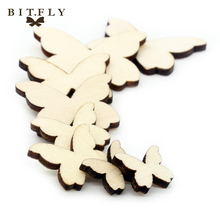 100pcs Love Heart pattern wooden DIY Children for table bottle wall pictures home decoration rustic wedding baby shower favor