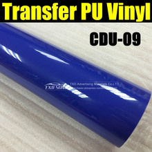 Flex PU Heat Transfer Vinyl /Heat Transfer Film  With size:50X100CM/Lot by free shipping CDU09-DARK BLUE