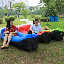 Newest Design Laybag Beach Bed Air Sofa Lounge Bag Camping Hangout Inflatable Sleeping Lazy Bag Inflatable Air Bed(China)