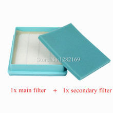 1 set Vacuum Cleaner Parts Filters Replacement HEPA Filter FC8630 Air Outlet Filter for Philips FC8471 8472 8474 FC8633 FC9320(China)