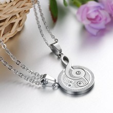 Fashion Jewelry Music Symbol Pendant Titanium Steel Musical Notation Couple Necklace(China)