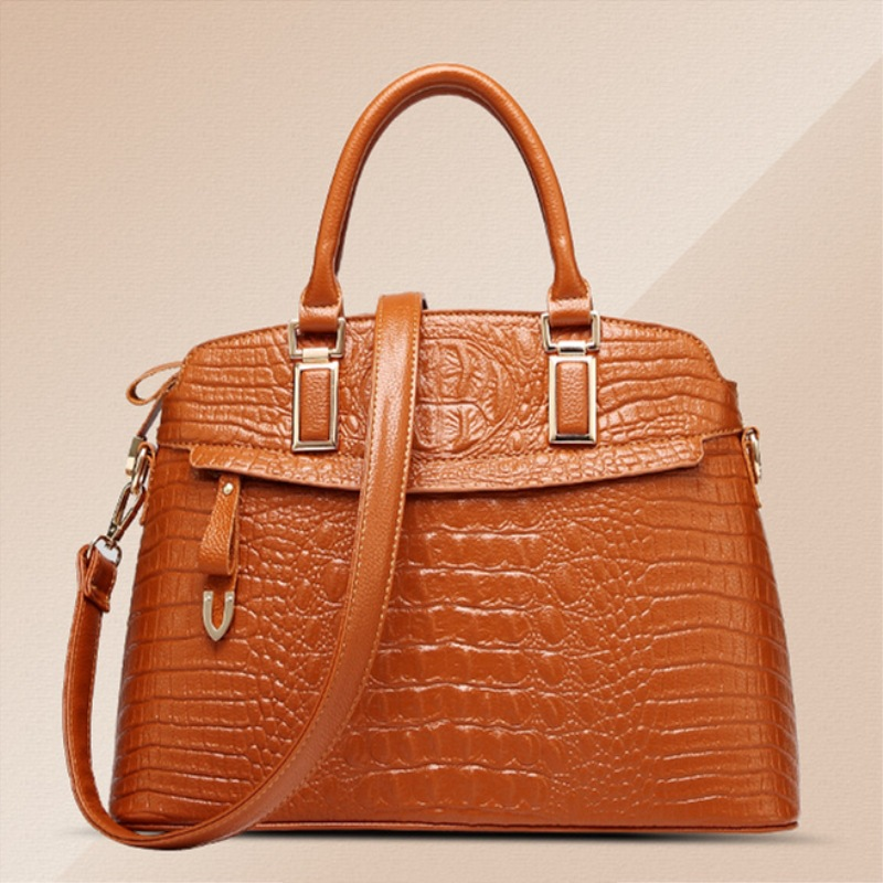 The new winter handbags in Europe and the tide crocodile grain female bag Brand shell package one shoulder inclined shoulder bag<br>