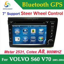 For VOLVO S60 V70 2 Din Car DVD gps with GPS car Radio DVD Bluetooth RDS TV USB Car Stereo SD Car receiver steer wheel control
