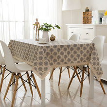 DAXIAOBU Cotton Linen Table Deco Print Fortune Round Tree Customed Tablecloth Cover 1215f
