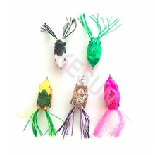 10 pcs Random mixed color Wholesale in stock soft frog lure for carp bass snakehead freshwater fishing 55mm/12g(China)