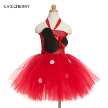 Fantasia Infantil Minnie Costume For Kids Clothes Girls Dresses Red Lace Tutu Summer Dress Girl Vestidos Baby Clothing 2-12Years